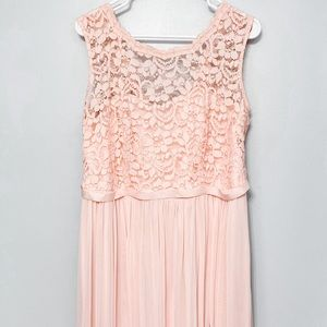 David's Bridal Lace Neck Bridesmaid Dress
